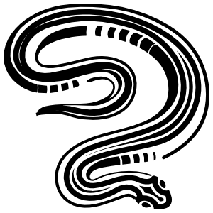 Cool Striped Snake Sticker