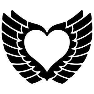 Pretty Heart With Wings Sticker