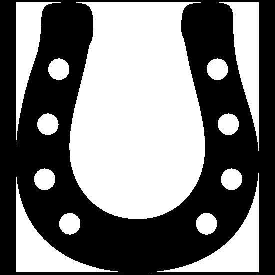 Dapper Horseshoe Sticker