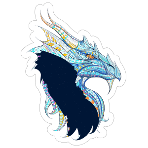 Mosaic Dragon Sticker