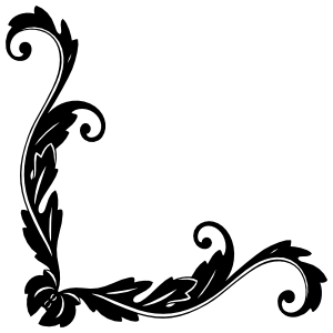 Decorative Leaf Corner Border Sticker