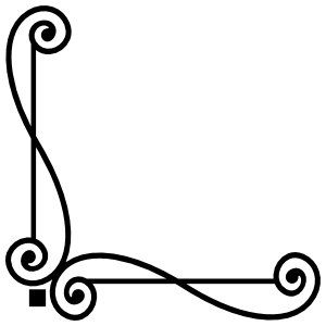 Decorative Corner Border Sticker