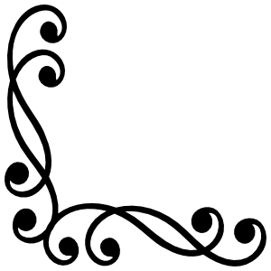Swirly Decorative Corner Border Sticker