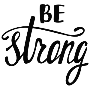 Be Strong Boho Sticker