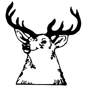Deer Head Sticker