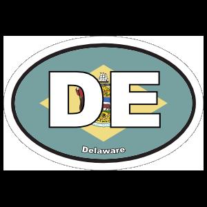 Delaware De State Flag Oval Magnet