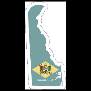 Delaware Flag State Sticker