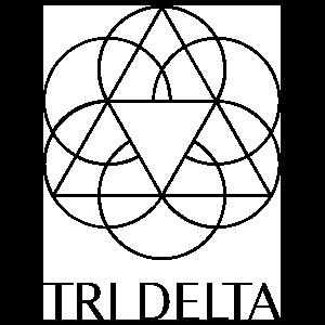 Delta Delta Delta Vertical Logo Transfer Sticker