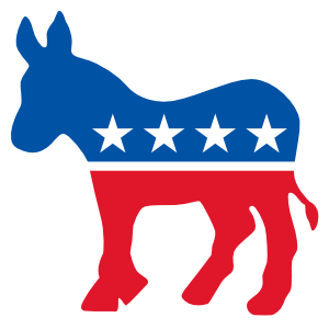 Democrat Donkey Printed Color Magnet