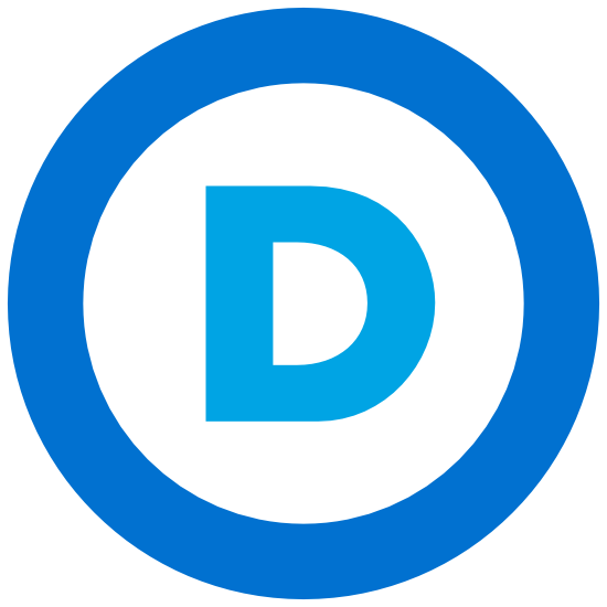 Democratic Party Logo Printed Color Magnet