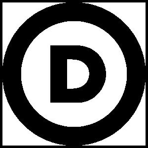 Democratic Party Logo Transfer Sticker