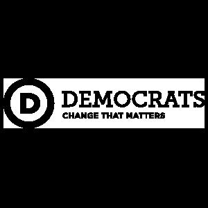 Democratic Party Logo With Slogan Long Transfer Sticker