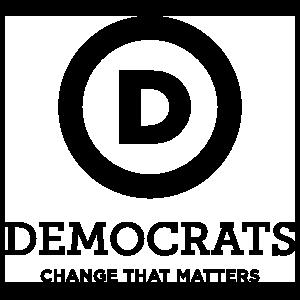 Democratic Party Logo With Slogan Tall Transfer Sticker
