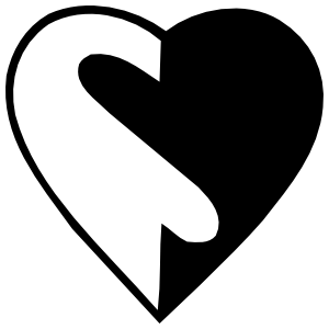 Yin And Yang Heart Sticker