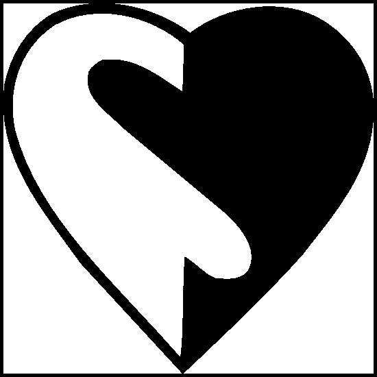 Yin And Yang Heart Sticker