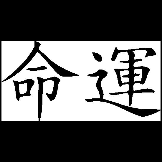 Chinese Symbol For Destiny Sticker
