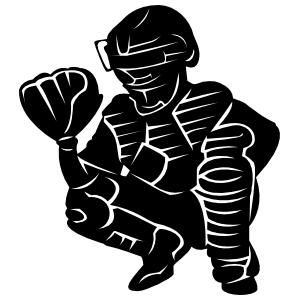 Detailed Baseball Softball Catcher Sticker