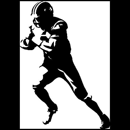 Detailed Running Football Player Sticker