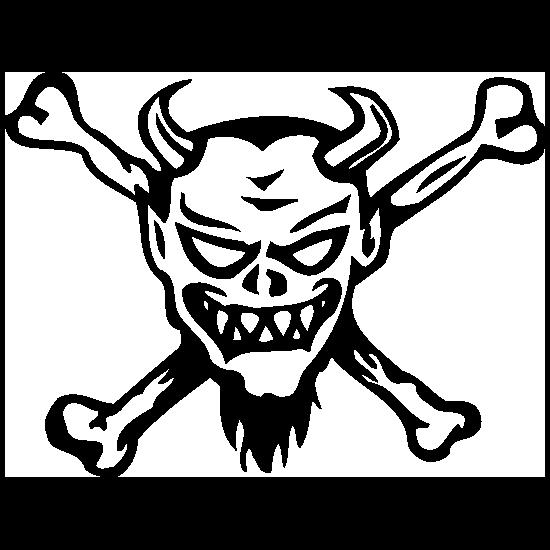 Devil Skull And Crossbones Sticker