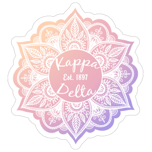 White Kappa Delta Mandala Sticker