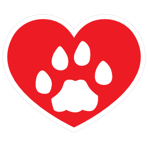 I Love My Cat Heart With Paw Magnet