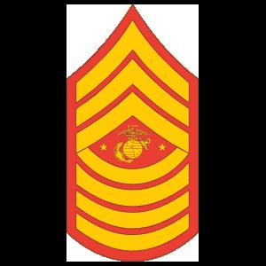 Marine Rank E-9 Sergeant Major Of The Marine Corps Sticker
