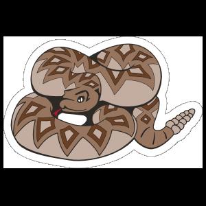 Diamondback Rattlesnake Mascot Sticker