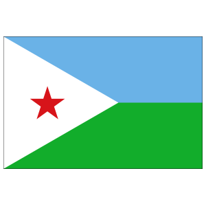 Djibouti Country Flag Sticker
