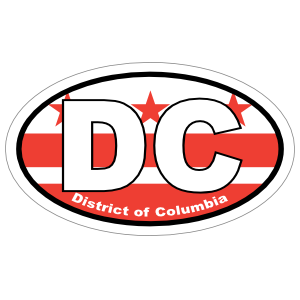 District Of Columbia Dc State Flag Oval Magnet