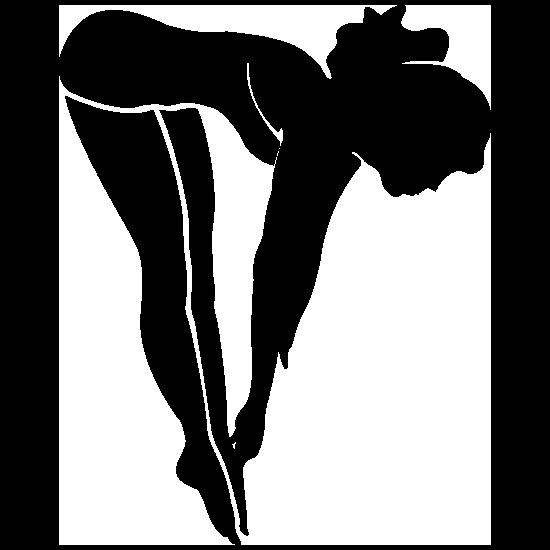 Female Diver Sticker