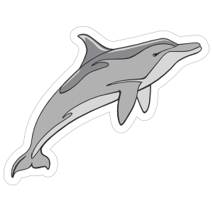 Dolphin Mascot Sticker