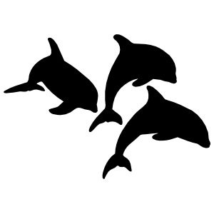 Three Dolphins Swimming Sticker