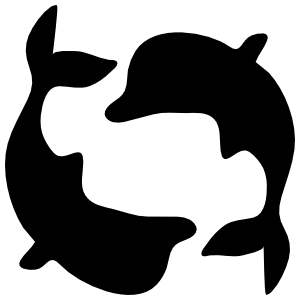 Dolphins Swimming In Circle Sticker