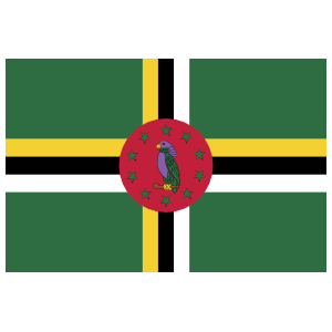 Dominica Flag Sticker