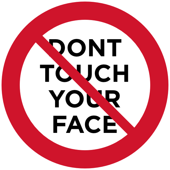 Dont Touch Your Face Sign Sticker