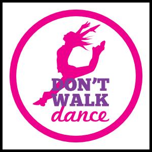 Don't Walk Dance Circle Sticker