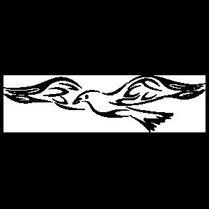 Flaming Dove Sticker