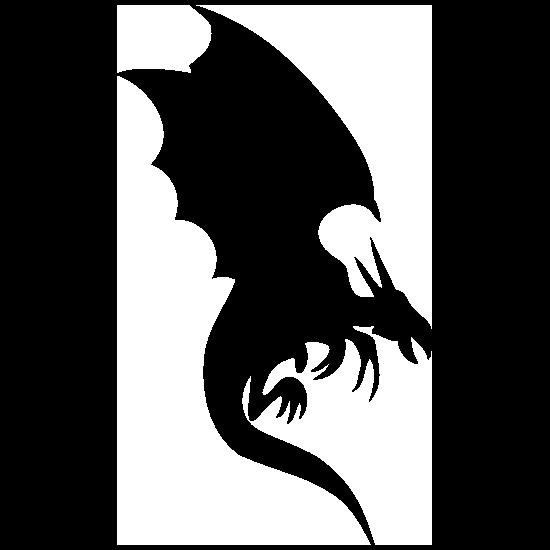 Dragon Silhouette Sticker