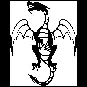 Detailed Dragon Flying Sticker