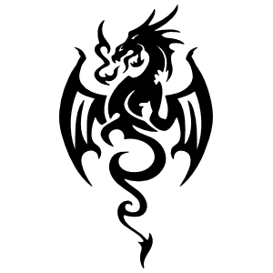 Tribal Dragon Breathing Fire Sticker