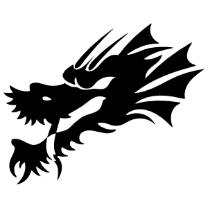Cool Dragon Head Sticker