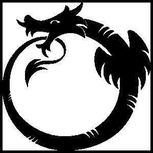 Dragon Circle Sticker