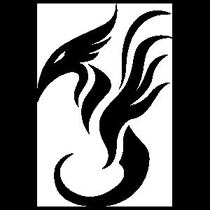 Simplified Dragon Design Sticker