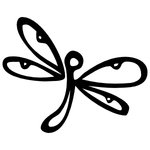 Cute Dragonfly Sticker