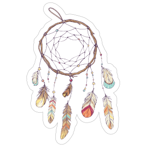 Dreamcatcher with Feathers Boho Sticker