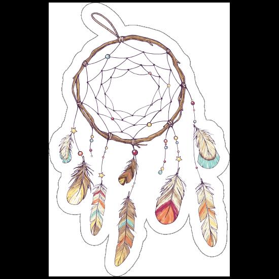 Dreamcatcher with Feathers Boho Sticker
