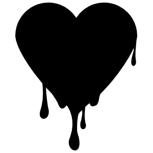 Dripping Heart Sticker