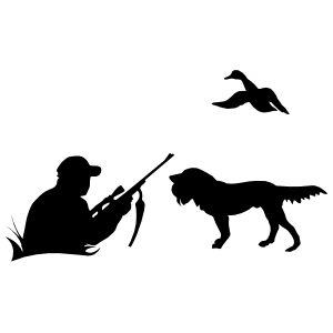Duck Hunting With Dog Sticker