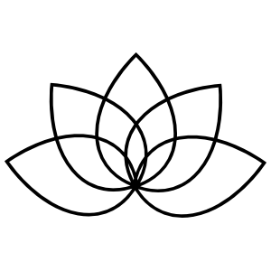 Lotus Flower Outline Sticker