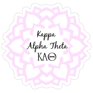 Pink Kappa Alpha Theta Mandala Sticker